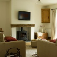 Living room with woodburning stove | Living room ...