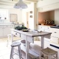 White country kitchen with antique butcher s block kitchen