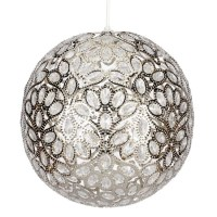 Aurora Ball Nickel ceiling light from Next | Ceiling ...
