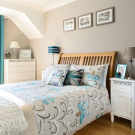Taupe and aqua bedroom  Decorating  housetohomecouk