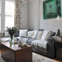 Pale grey traditional living room   Decorating ...