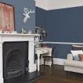 Traditional blue living room ideas traditional dark blue living room