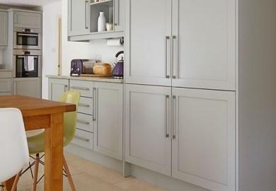 Steel Grey Kitchen Cabinets