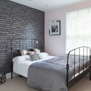 bedroom bedrooms completely wall motif customize housetohome dark grey avso