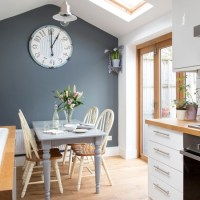 White kitchen with grey feature wall | Decorating with ...