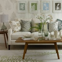 Leaf-themed living room | Small country living room ideas ...