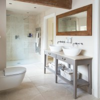 Contemporary bathroom with country-style touches | Country ...