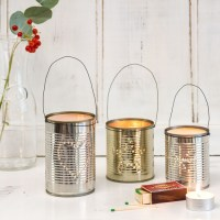 White Christmas living room with tin can lanterns   Budget ...