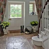 Country hallway with flagstone floor | Hallway flooring ...