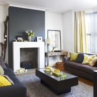 Living room chimney breast focal point