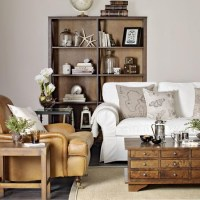 Neutral living room with leather armchair | Great schemes ...