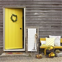 Daffodil yellow front door | Daffodil decorating ideas ...