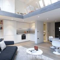 White open-plan kitchen-diner-living room   Open-plan ...
