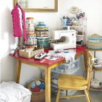 Craft room with antique furniture and vintage finds ...