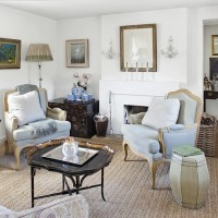 Country living room with powder blue chairs | Decorating ...