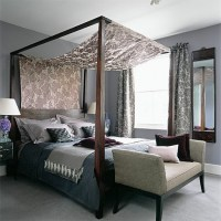 Grey bedroom with flock fabric canopy | 20 gorgeous grey ...