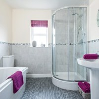 Modern bathroom with pink accessories | housetohome.co.uk