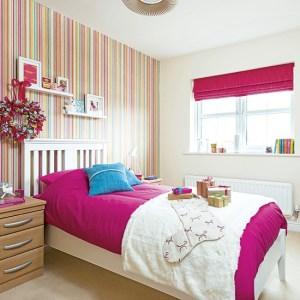 bedroom striped children childrens housetohome