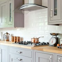 Country kitchen with Shaker cabinetry and wooden worktop ...
