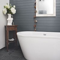 Feature wall with grey wood panelling   Feature walls - 10 ...