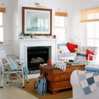 Americana living room with coastal accents