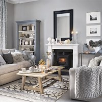 Grey living room with plenty of pattern and texture | Grey ...