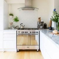 Modern cream kitchen with range cooker