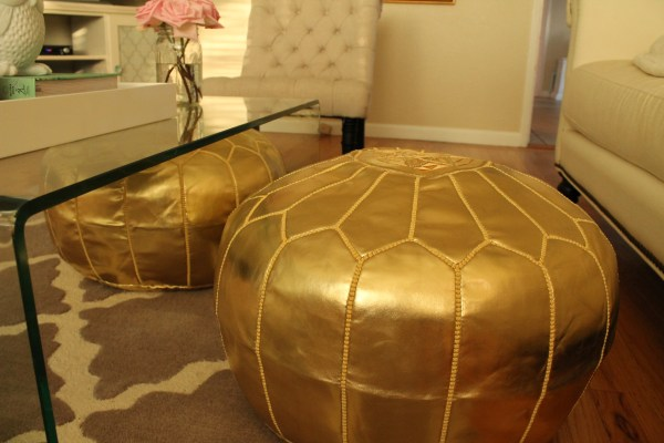 Living Moroccan Room Poufs