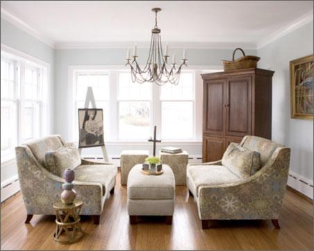 Chandelier in the Living Room