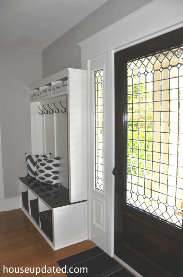 Entry Storage Bench  Hooks  Baskets  More  House Updated