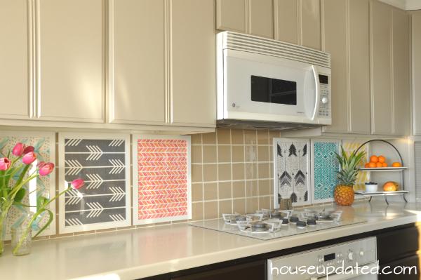 inexpensive backsplashes for kitchens best lights a kitchen diy temporary backsplash house updated