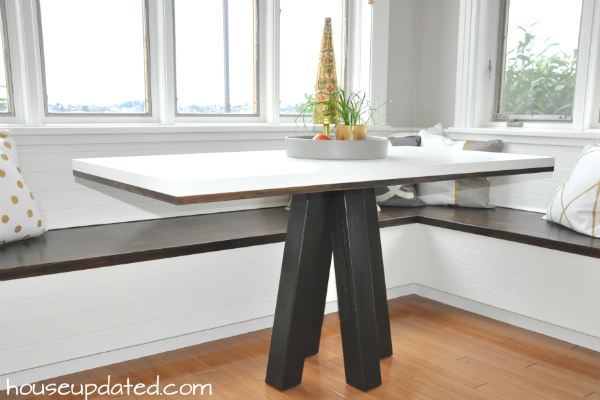 make kitchen table black storage cabinet how to a diy breakfast or dining house updated nook