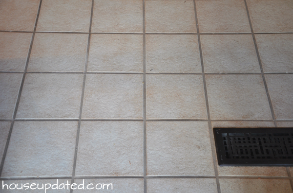 Finishing up Floor Removal Particle Board Tile and