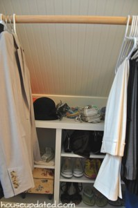 Master Closet Reveal (Beadboard, Sloped Ceilings, Kilims ...