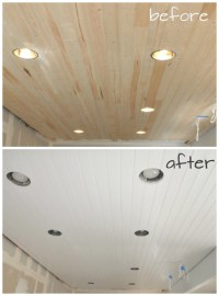 DIY: How to Paint a Planked Ceiling for a Perfect Finish ...