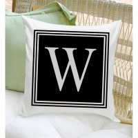Personalized Initial Throw Pillow | housewarmingandbeyond.com