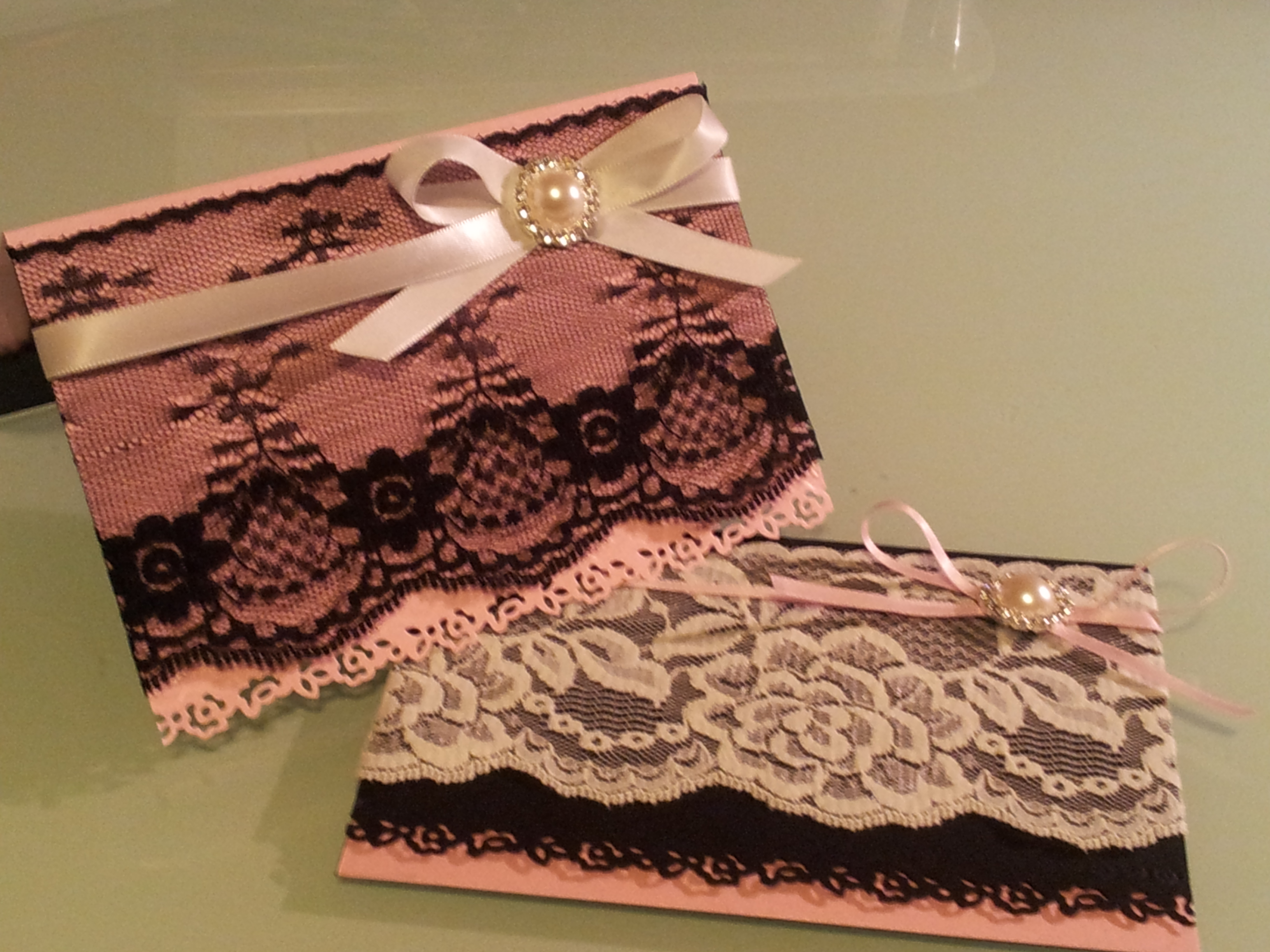 lace wedding invitations  Housewife Down Under