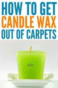 How To Get Candle Wax Out Of Carpet  Housewife How-Tos
