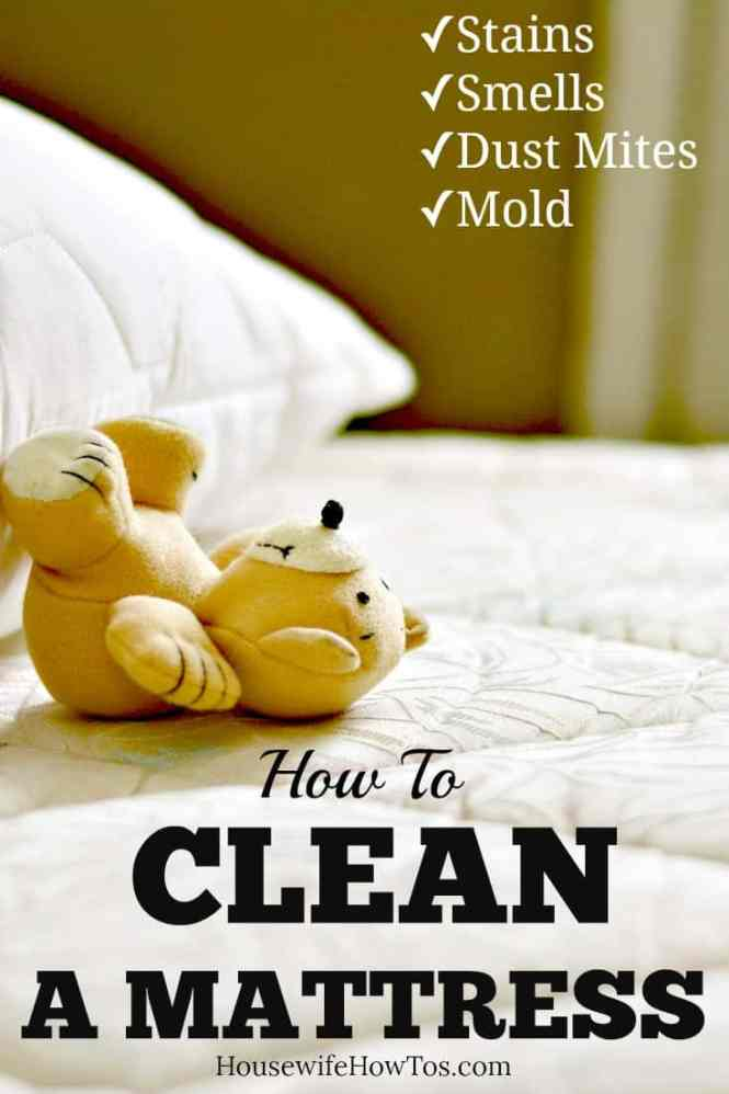 How To Clean A Mattress Get Rid Of Urine Blood Pet And Other Stains