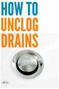 How To Unclog Drains Naturally  Housewife How-Tos