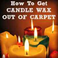 How To Get Candle Wax Out Of Carpet - Housewife How-To's