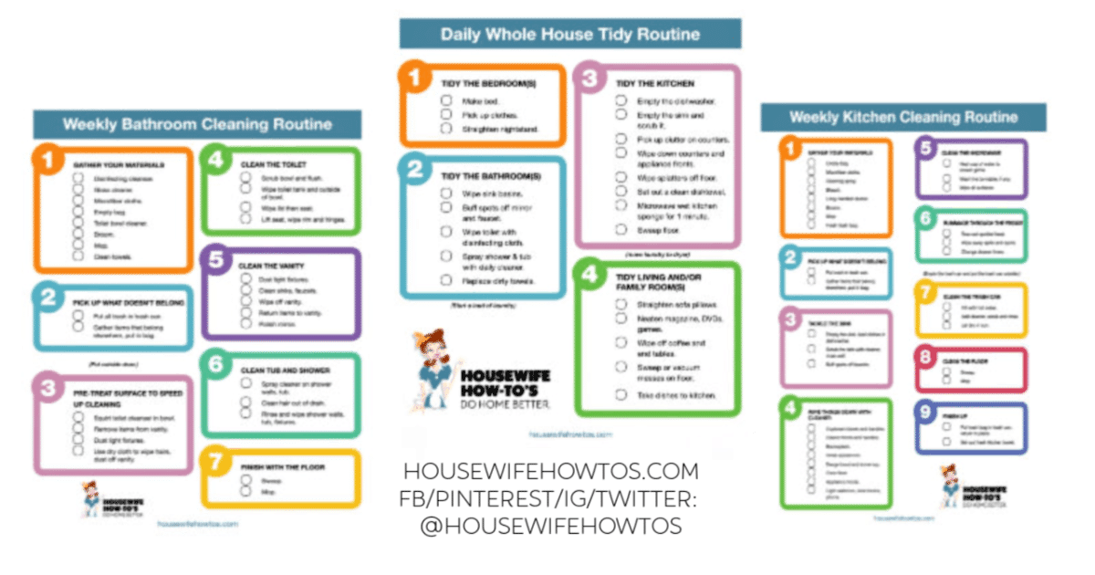 By michelle.tako on jul 8, 2017. Cleaning Checklists Free Printable Home Cleaning Routines