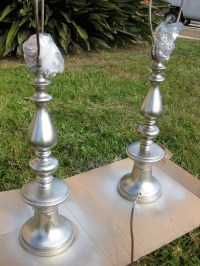 DIY Mercury Glass Lamps | #housewifeproblem