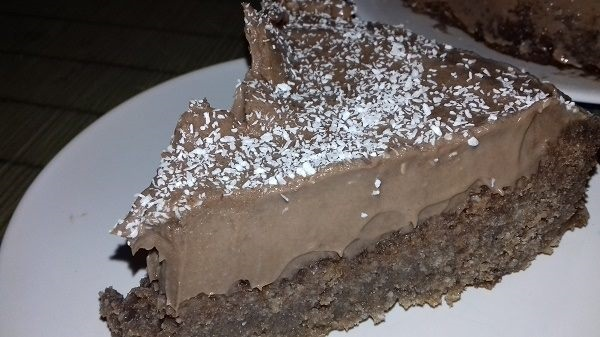 Coconut Chocolate Cake with Chocolate Frosting (Nut-Free Recipe)