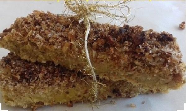 Pumpkin Crumble Bars, Healthy Fall Dessert (Low-Carb, GF, Paleo)