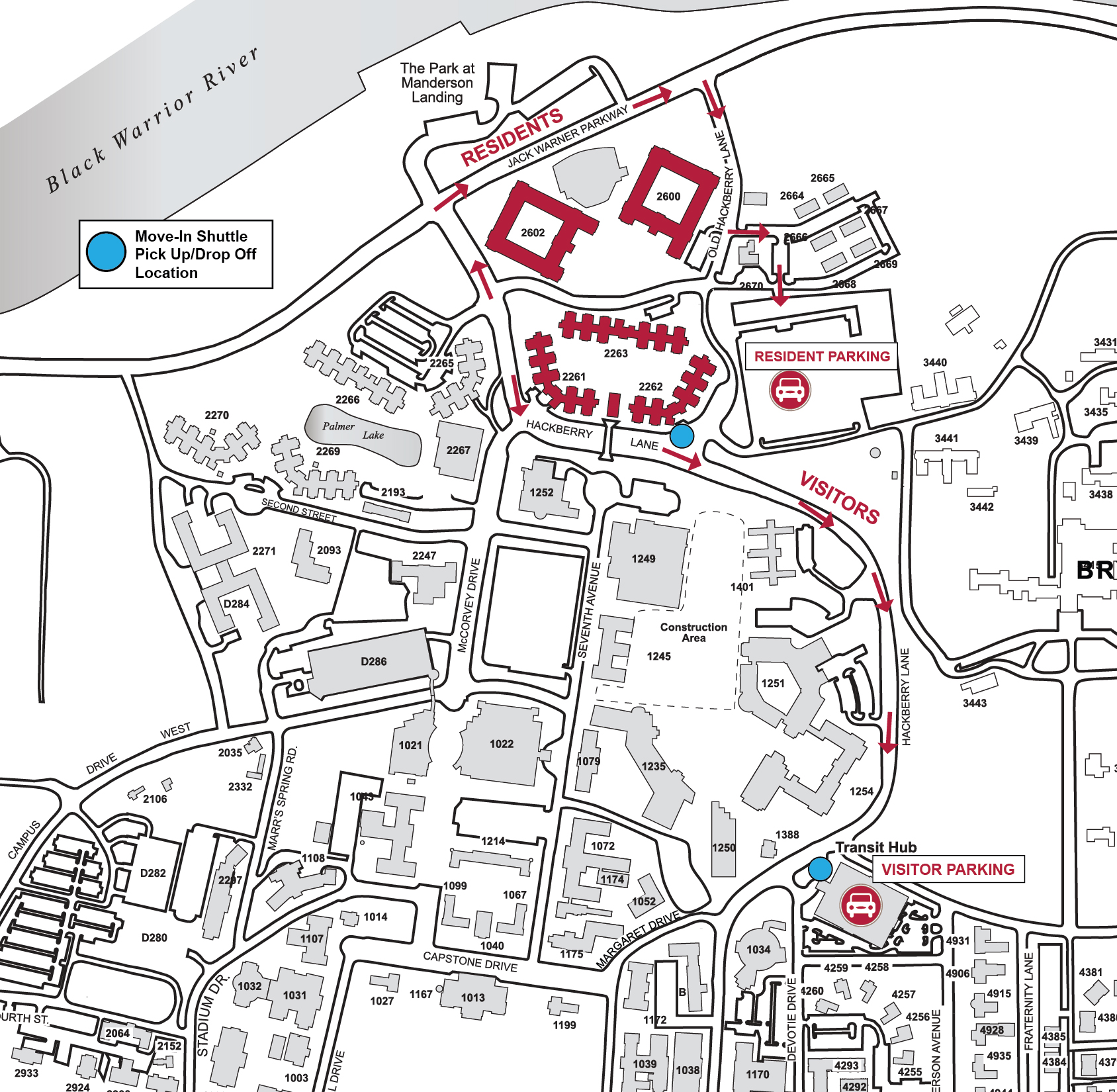 Western Michigan University Parkview Campus Map