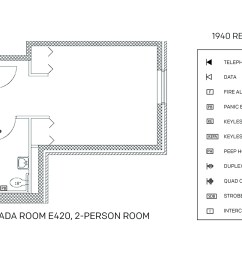 accessible room diagrams 2 person 1 bedroom suite e420 2 person 1 bedroom suite e420 [ 1725 x 1050 Pixel ]