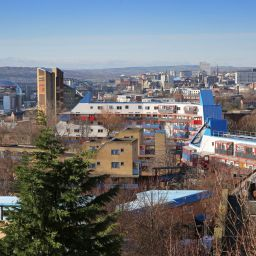 A landscape view of the Byker Estate in Newcastle-upon-Tyne.