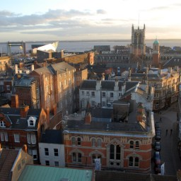 The skyline over Kingston-upon-Hull.