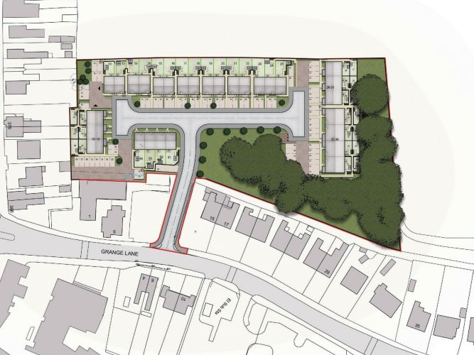 The site plan for Jigsaw's Grange Lane, Winsford scheme.
